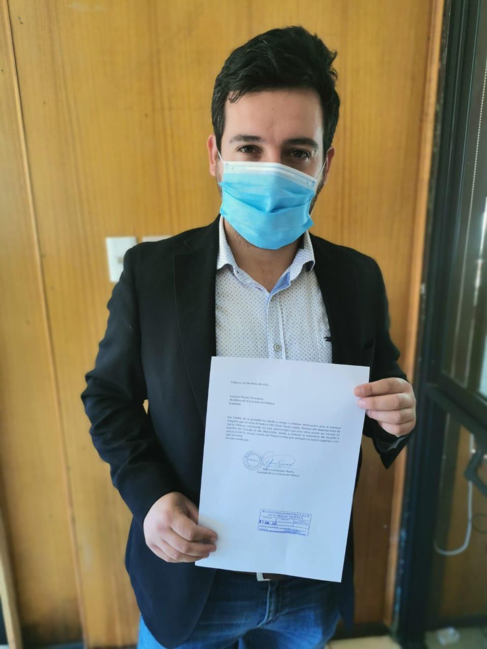 Concejal Schmeisser solicita al municipio aclarar millonario finiquito a Cesar Duran